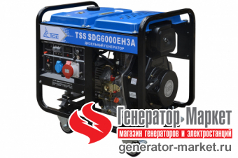 Дизельный генератор TSS SDG6000EH3