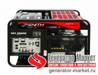 Бензогенератор Zenith ZH15000 3DXE